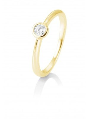 Breuning 41/85128-6 Ring Brillant 0,15 ct W-si 14 kt Gelbgold