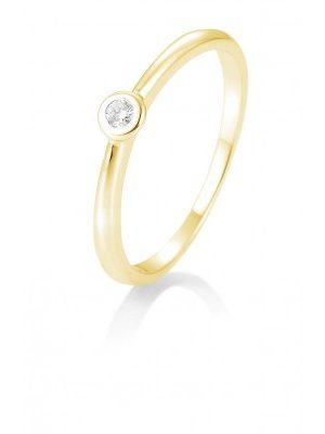 Breuning 41/85771-6 Ring Brillant 0,05 ct W-si 14 kt Gelbgold
