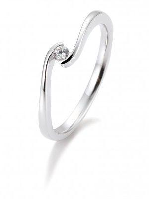 Breuning 41/85939 Ring Brillant 0,05 ct W-si 14 kt Weissgold