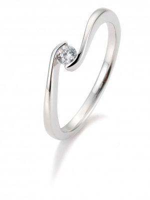 Breuning 41/85940 Ring Brillant 0,10 ct W-si 14 kt Weissgold