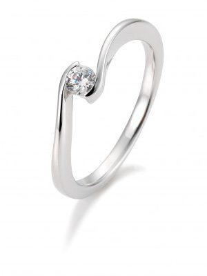 Breuning 41/85941 Ring Brillant 0,15 ct W-si 14 kt Weissgold