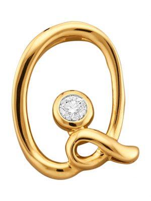 Buchstaben-Anhänger 'Q' Diemer Gold Gelbgoldfarben