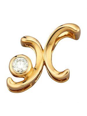 Buchstaben-Anhänger 'X' Diemer Gold Gelbgoldfarben