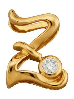 Buchstaben-Anhänger 'Z' Diemer Gold Gelbgoldfarben
