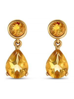 CHRIST Damen-Ohrhänger 375er Gelbgold 2 Citrin CHRIST C-Collection gelb