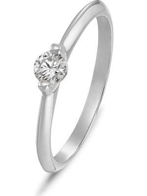 CHRIST Diamonds Damen-Damenring 1 Diamant CHRIST Diamonds Weißgold