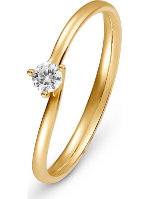 CHRIST Diamonds Damen-Damenring 1 Diamant CHRIST Diamonds gelbgold