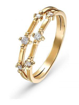 CHRIST Diamonds Damen-Damenring 6 Diamant CHRIST Diamonds gold