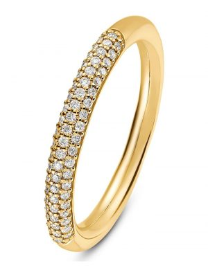CHRIST Diamonds Damen-Damenring 61 Diamant CHRIST Diamonds gelbgold