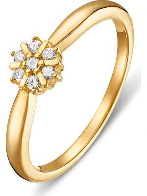 CHRIST Diamonds Damen-Damenring 7 Diamant CHRIST Diamonds gelbgold