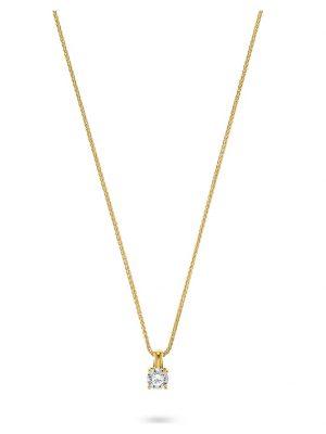 CHRIST Diamonds Damen-Kette 1 Diamant CHRIST Diamonds gelbgold
