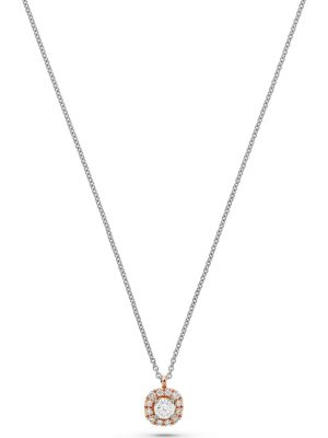 CHRIST Diamonds Damen-Kette 585er Rosegold, 585er Weißgold 13 Diamant CHRIST Diamonds bicolor