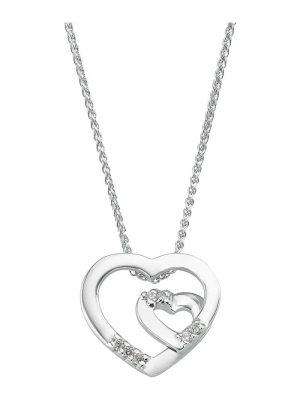 CHRIST Diamonds Damen-Kette Weißgold/gold 7 Diamant CHRIST Diamonds Weißgold