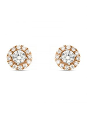 CHRIST Diamonds Damen-Ohrstecker 585er Weißgold, 585er Rosegold 2 Diamant CHRIST Diamonds bicolor