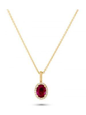 CHRIST Gold Damen-Halsketten 585er Gelbgold 1 Rubin CHRIST GOLD gold