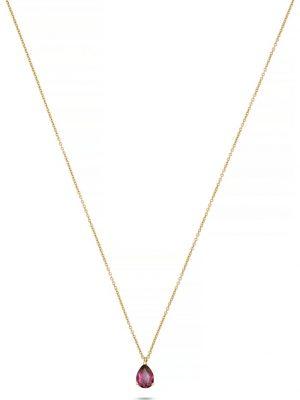CHRIST Gold Damen-Kette 375er Gelbgold 1 Rhodolith CHRIST GOLD gelbgold