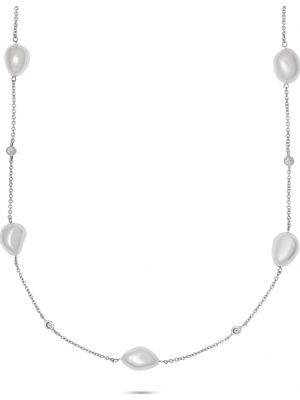 CHRIST Pearls Damen-Kette 925er Silber 13 Süßwasser CHRIST Pearls weiß