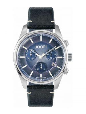 Chronograph für Herren, Edelstahl mit Lederband, blau, Chronograph JOOP! Blau