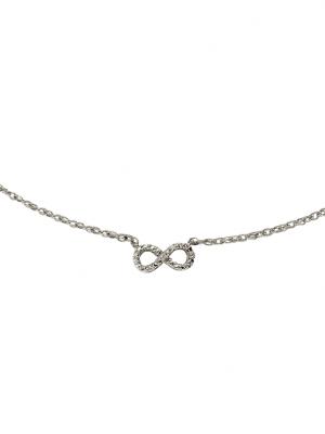 Collier 925/- Sterling Silber Diamant weiß Diamant 45cm Glänzend 0,007 Celesta Silbergrau