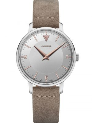 Damen-Armbanduhr Therese Lederband Taupe / Silber Junkers Multicolor