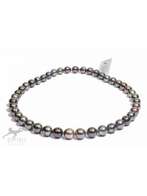 Damen Perlenschmuck Tahiti Perlen Collier ( 45 cm ) DI PERLE silber