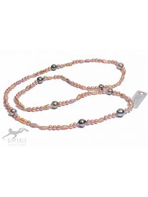 Damen Perlenschmuck Tahiti Perlen Collier ( 90 cm ) DI PERLE naturfarbe