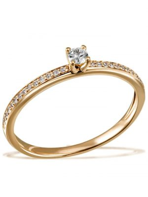 Damenring 585/- Gelbgold 29 Brillanten 0,18 ct. P2/H Goldmaid goldfarben