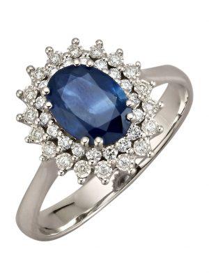 Damenring Diemer Farbstein Blau