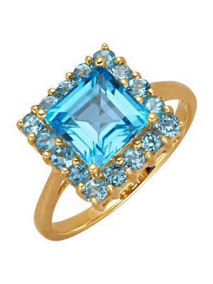 Damenring Diemer Highlights Blau