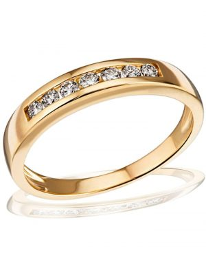 Damenring Memoire 585/- Gelbgold 7 Brillanten 0,24 ct. Goldmaid goldfarben