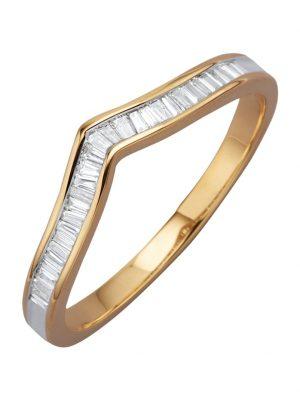 Damenring mit Diamanten Diemer Diamant Gelbgoldfarben