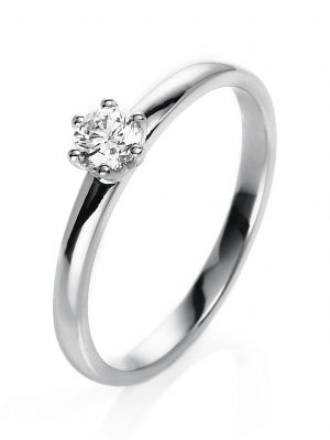 Diamond Group 1O324W56 Ring Brillant 0,25 ct TW-si 14 kt Weissgold Gr. 56