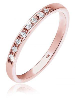 Diamore Ring Aufsteckring Funkelnd Diamant (0.08 ct) 925 Silber Diamore Rosegold