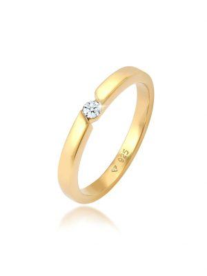Diamore Ring Verlobungsring Diamant (0.06 ct.) 925 Silber Diamore Gold