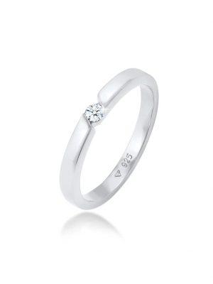 Diamore Ring Verlobungsring Diamant (0.06 ct.) 925 Silber Diamore Silber