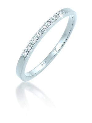 Diamore Ring Verlobungsring Diamant (0.08 ct.) 585er Weißgold Diamore Weiß