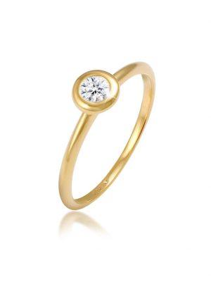 Elli Premium Ring Swarovski® Created Diamond (0.06 ct.) 585 Gelbgold Elli Premium Gold
