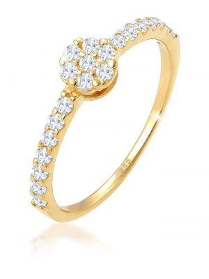 Elli Premium Ring Verlobungsring Topas Edelstein Fein 585 Gelbgold Elli Premium Gold