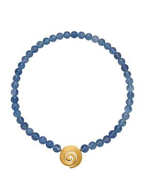 Fluorit-Collier Diemer Farbstein Blau