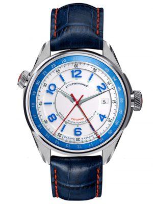 Gagarin Sports Herrenuhr Automatik Sturmanskie Silberfarben