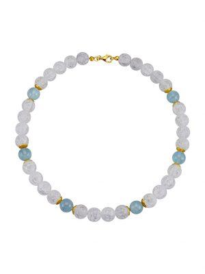 Halskette Diemer Farbstein Blau