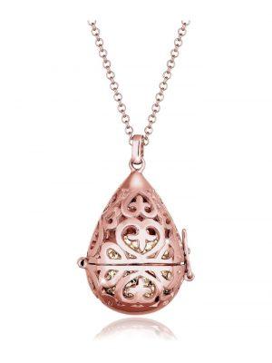 Halskette Symbolische Kugel Swarovski® Kristalle 925 Silber Elli Premium Braun