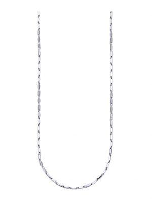 Halskette in Weißgold 585 Diemer Gold Silberfarben