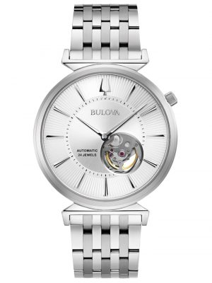 Herren-Armbanduhr Automatic Regatta Bulova Silberfarben