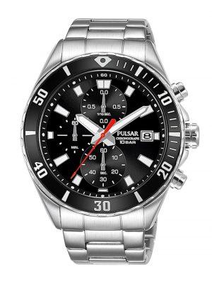 Herren-Armbanduhr Chronograph Schwarz Pulsar Schwarz