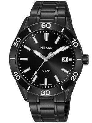 Herren-Armbanduhr Schwarz 10 bar Sport Pulsar Schwarz