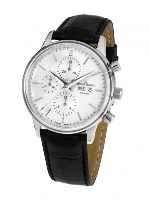 Herren-Uhr-Automatik-Chronograph Jacques Lemans Schwarz