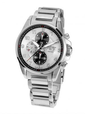 Herren-Uhr- Automatik-Chronograph Jacques Lemans Silberfarben