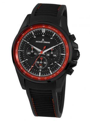 Herren-Uhr Chronograph Jacques Lemans Rot