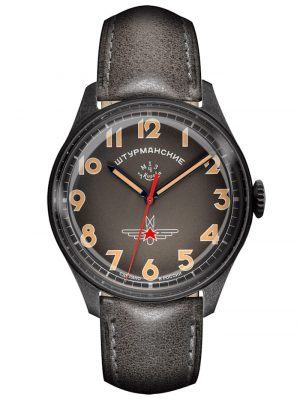 Herrenuhr Gagarin Vintage Retro - Limitiert 500 Sturmanskie Anthrazit